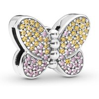 Pandora Reflexions 797864CZM Charm Clip Bedazzling Butterfly Silber