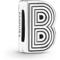 Pandora Reflexions 798198 Charm Clip Letter B Sterling-Silber
