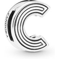 Pandora Reflexions 798199 Charm Clip Letter C Sterling-Silber