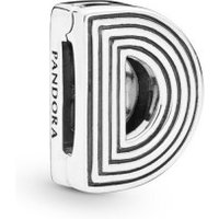 Pandora Reflexions 798200 Charm Clip Letter D Sterling-Silber