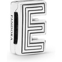 Pandora Reflexions 798201 Charm Clip Letter E Sterling-Silber