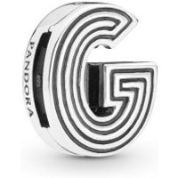 Pandora Reflexions 798203 Charm Clip Letter G Sterling-Silber