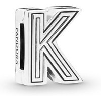 Pandora Reflexions 798207 Charm Clip Letter K Sterling-Silber
