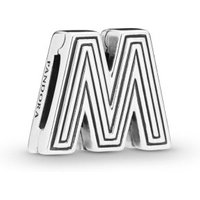 Pandora Reflexions 798209 Charm Clip Letter M Sterling-Silber