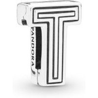 Pandora Reflexions 798216 Charm Clip Letter T Sterling-Silber