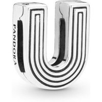 Pandora Reflexions 798217 Charm Clip Letter U Sterling-Silber