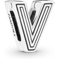 Pandora Reflexions 798218 Charm Clip Letter V Sterling-Silber
