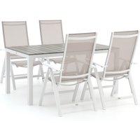 Bellagio Avenza/Fidenza 160cm dining tuinset 5-delig verstelbaar - Laagste prijsgarantie!