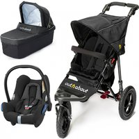 Out n About Nipper Single 360 V4 3in1 Travel System-Black Raven