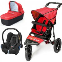 Out n About Nipper Single 360 V4 3in1 Travel System-Carnival Red