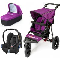 Out n About Nipper Single 360 V4 3in1 Travel System-Purple Punch