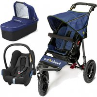 Out n About Nipper Single 360 V4 3in1 Travel System-Royal Navy