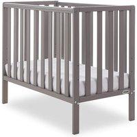 Obaby Bantam Space Saver Cot + Foam Mattress-Taupe Grey - Furniture Gifts