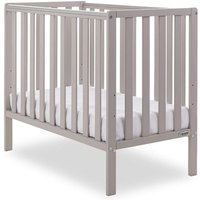 Obaby Bantam Space Saver Cot + Foam Mattress-Warm Grey - Furniture Gifts