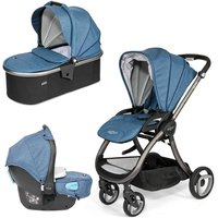 Tutti Bambini Arlo Charcoal 3in1 Travel System-Midnight Blue - Comfort Gifts