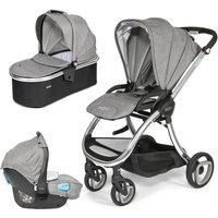 Tutti Bambini Arlo Chrome 3in1 Travel System-Charcoal - Comfort Gifts