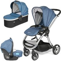 Tutti Bambini Arlo Chrome 3in1 Travel System-Midnight Blue - Comfort Gifts