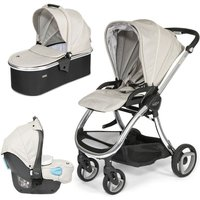 Tutti Bambini Arlo Chrome 3in1 Travel System-Oatmeal - Comfort Gifts