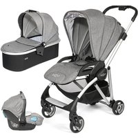 Tutti Bambini Koji Silver 3in1 Travel System-Charcoal - Comfort Gifts