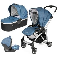 Tutti Bambini Koji Silver 3in1 Travel System-Midnight Blue - Comfort Gifts