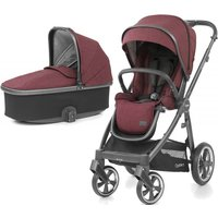 BabyStyle Oyster 3 City Grey Finish 2in1 Pram System-Berry