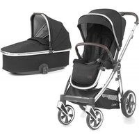 BabyStyle Oyster 3 Mirror Finish 2in1 Pram System-Caviar