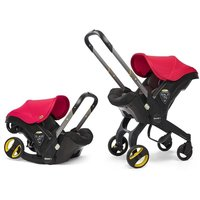 Doona Infant Car Seat Stroller-Flame Red + FREE Rain Cover to fit Doona Worth 24.99!
