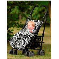 Kiddies Kingdom Deluxe Universal Pushchair Footmuff-Zebra Print - Cuddles Gifts