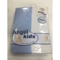 Angel Kids Crib Cotton Fitted Sheets(2 Pack)-Blue/White