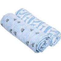 Bebe Au Lait Classic Muslin Swaddle Blanket Set-High Seas + Moby