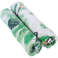 Bebe Au Lait Classic Muslin Swaddle Blanket Set-Rio + Palm - Blanket Gifts