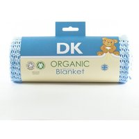 DK Glove Organic Fitted Cotton Blanket for Pram/Crib 75x100cm-Blue - Blanket Gifts