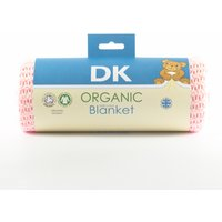 DK Glove Organic Fitted Cotton Blanket for Pram/Crib 75x100cm-Pink - Blanket Gifts