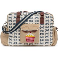 Pink Lining Heritage Yummy Mummy Changing Bag-Navy Bows - Bows Gifts