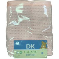 DK Glove Organic Fitted Cotton Blanket for Cotbed 130x160cm-Pink - Blanket Gifts