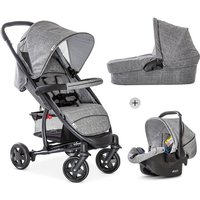 Hauck Malibu 4 Trio Set-Melange/Grey (New 2019) - Malibu Gifts