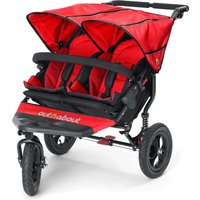 Out n About Nipper Double 360 V4 Stroller-Carnival Red