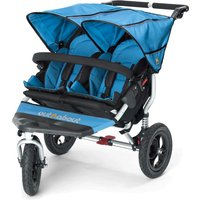 Out n About Nipper Double 360 V4 Stroller-Lagoon Blue + FREE Shopping Basket Worth 23.95!