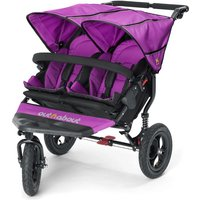 Out n About Nipper Double 360 V4 Stroller-Purple Punch + FREE Shopping Basket Worth 23.95!