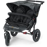 Out n About Nipper Double 360 V4 Stroller-Raven Black + FREE Shopping Basket Worth 23.95!