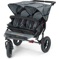 Out n About Nipper Double 360 V4 Stroller-Steel Grey + FREE Shopping Basket Worth 23.95!