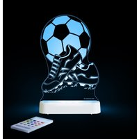 Aloka Multi Coloured Children's Night Light-Football & Boots