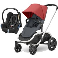 Quinny Hubb Silver Frame XXL 2in1 Cabriofix Travel System-Red/Graphite