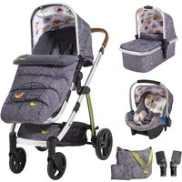 Cosatto Wow 3in1 Whole 9 Yards Travel System with Port 0+ Car Seat-Dawn Chorus - Port Gifts