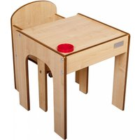 Little Helper FunStation Toddler Table and Chair Set-Maple - Toddler Gifts