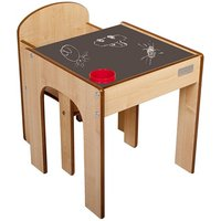 Little Helper FunStation Toddler Table and Chair Set-Chalky - Toddler Gifts