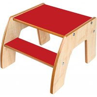 Little Helper FunStep Toddler & Child Safety Step Stool-Maple/Red - Toddler Gifts