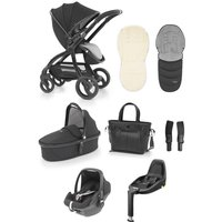 egg® Special Edition Luxury 3in1 Pebble+ Travel System with Familyfix3 Base-Just Black (New 2019)