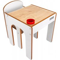 Little Helper FunStation Toddler Table and Chair Set-Maple/White - Toddler Gifts
