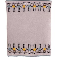 Bizzi Growin Cheeky Monkey Knitted Baby Blanket - Knitted Gifts